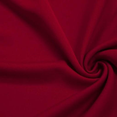 Red Solid Stretch Scuba Double Knit Fabric / 50 Yards Roll
