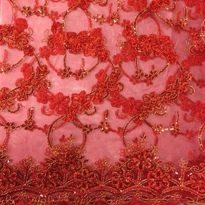 RED Emperor's Lace Fabric