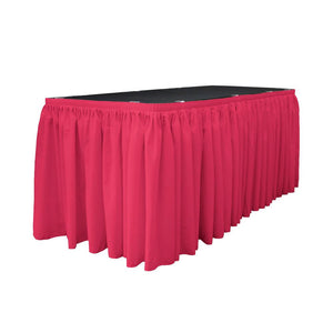 14 Ft. x 29 in. Fuchsia Accordion Pleat Polyester Table Skirt