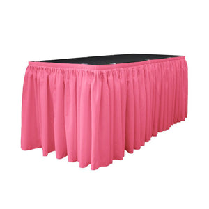 14 Ft. x 29 in. Hot Pink Accordion Pleat Polyester Table Skirt