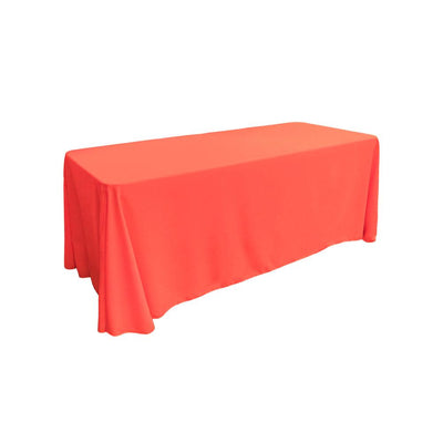 Coral 100% Polyester Rectangular Tablecloth 90