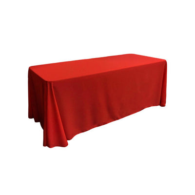 Red 100% Polyester Rectangular Tablecloth 90