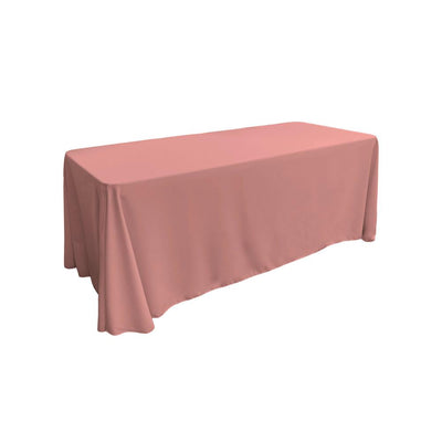 Dusty Rose 100% Polyester Rectangular Tablecloth 90