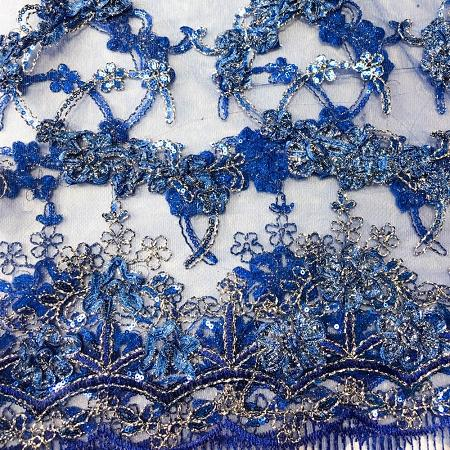 ROYAL BLUE Emperor's Lace Fabric