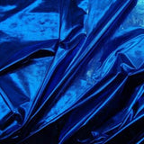 Blue Spandex Lame Foil Stretch Metallic Fabric