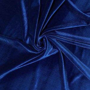 Royal Blue Velvet Stretch Fabric