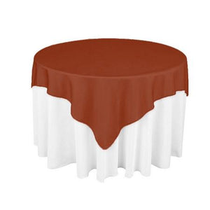 "Rust Overlay Tablecloth 60"" x 60"""