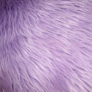 Lilac Faux Fake Fur Solid Shaggy Long Pile Fabric