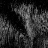 Black Faux Fake Fur Long Pile Shaggy Fabric