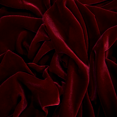 Burgundy Silk Velvet Fabric