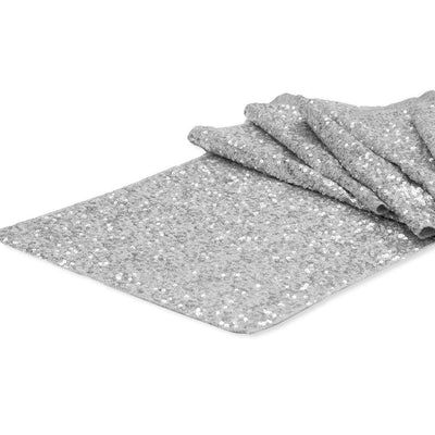 Silver Glitz Sequin Table Runner