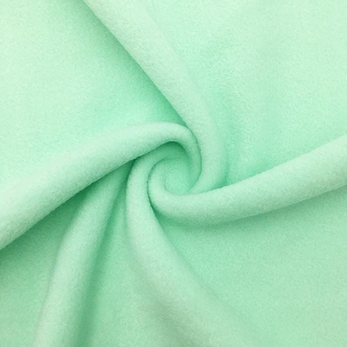 Mint Anti Pill Solid Fleece Fabric