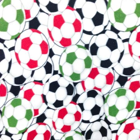 Soccer Multi Color Anti Pill Print Fleece Fabric