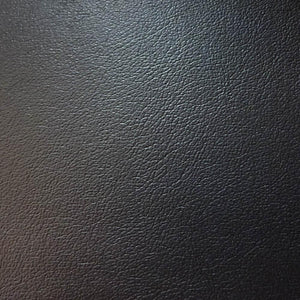 Black 1.0 mm Thickness Soft PVC Faux Leather Vinyl Fabric