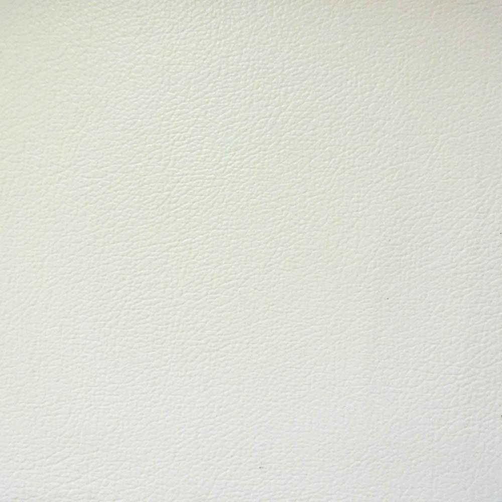 White 1.0 mm Thickness Soft PVC Faux Leather Vinyl Fabric