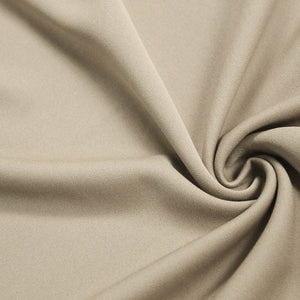 Taupe Solid Stretch Scuba Double Knit Fabric