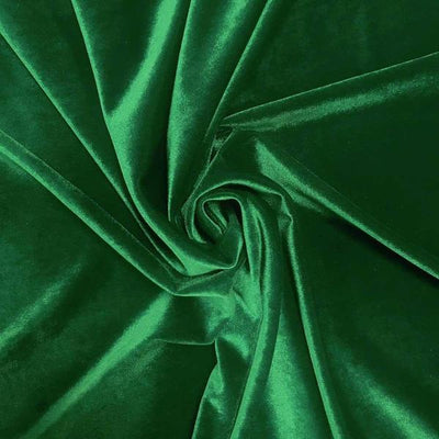 Kelly Green Stretch Velvet Fabric / 60 Yards Roll