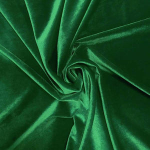 Kelly Green Velvet Stretch Fabric