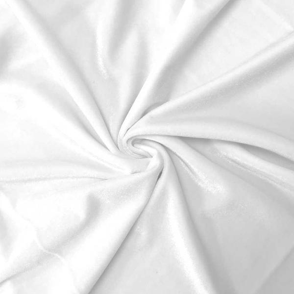 White Velvet Stretch Fabric