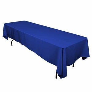 "Royal Blue 100% Polyester Rectangular Tablecloth 60"" x 126"""