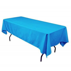 "Turquoise 100% Polyester Rectangular Tablecloth 60"" x 126"""