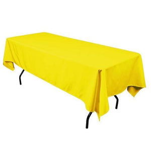 "Yellow 100% Polyester Rectangular Tablecloth 60"" x 126"""