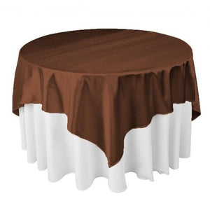 "Chocolate Brown Square Overlay Tablecloth 60"" x 60"""