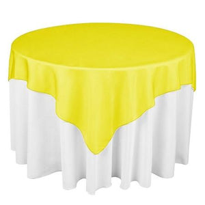 "Golden Yellow Overlay Tablecloth 60"" x 60"""