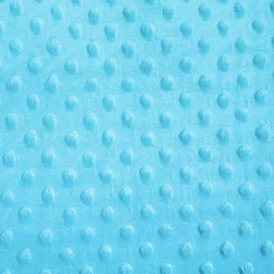 Turquoise Gray Minky Dimple Dot Fabric
