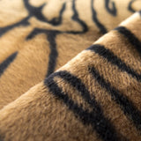 Brown Velboa Faux Fur Tiger Animal Short Pile Fabric