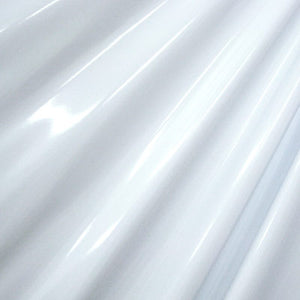White 4-Way Glossy Stretch Vinyl Fabric