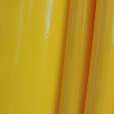 Yellow 4-Way Glossy Stretch Vinyl Fabric