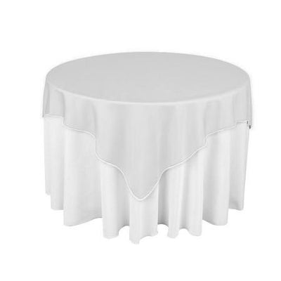 White Overlay Tablecloth 60