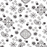 White Paisley Bandana Poly Cotton Fabric