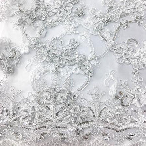 WHITE Emperor's Lace Fabric