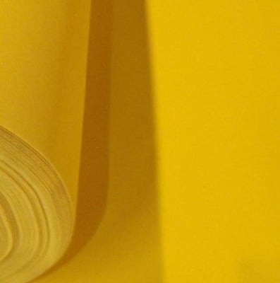 Yellow Upholstery Grade Flocking Velvet Fabric / 50 Yards Roll