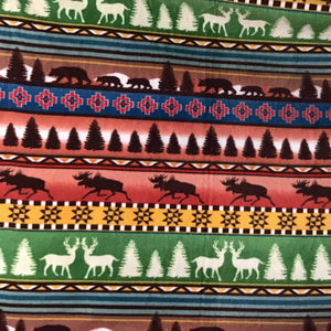 Indian Native American African 1 Print Anti Pill Fleece Fabric