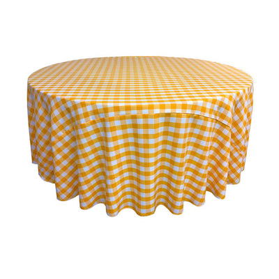 Dark Yellow Polyester Checkered Round 108