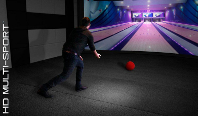 bowling on hd golf simulator with multi sport software