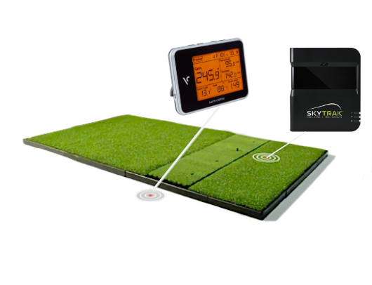 Fiberbuilt Golf Mat with Launch Monitors