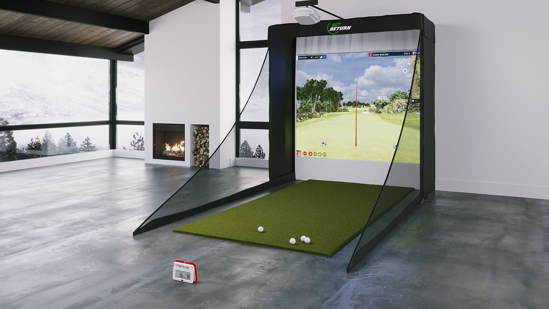 FlightScope Mevo Plus SIG8 Golf Simulator