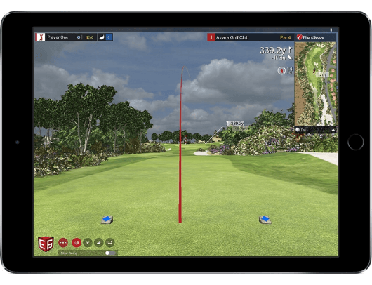 flightscope mevo+ with E6 golf simulation software