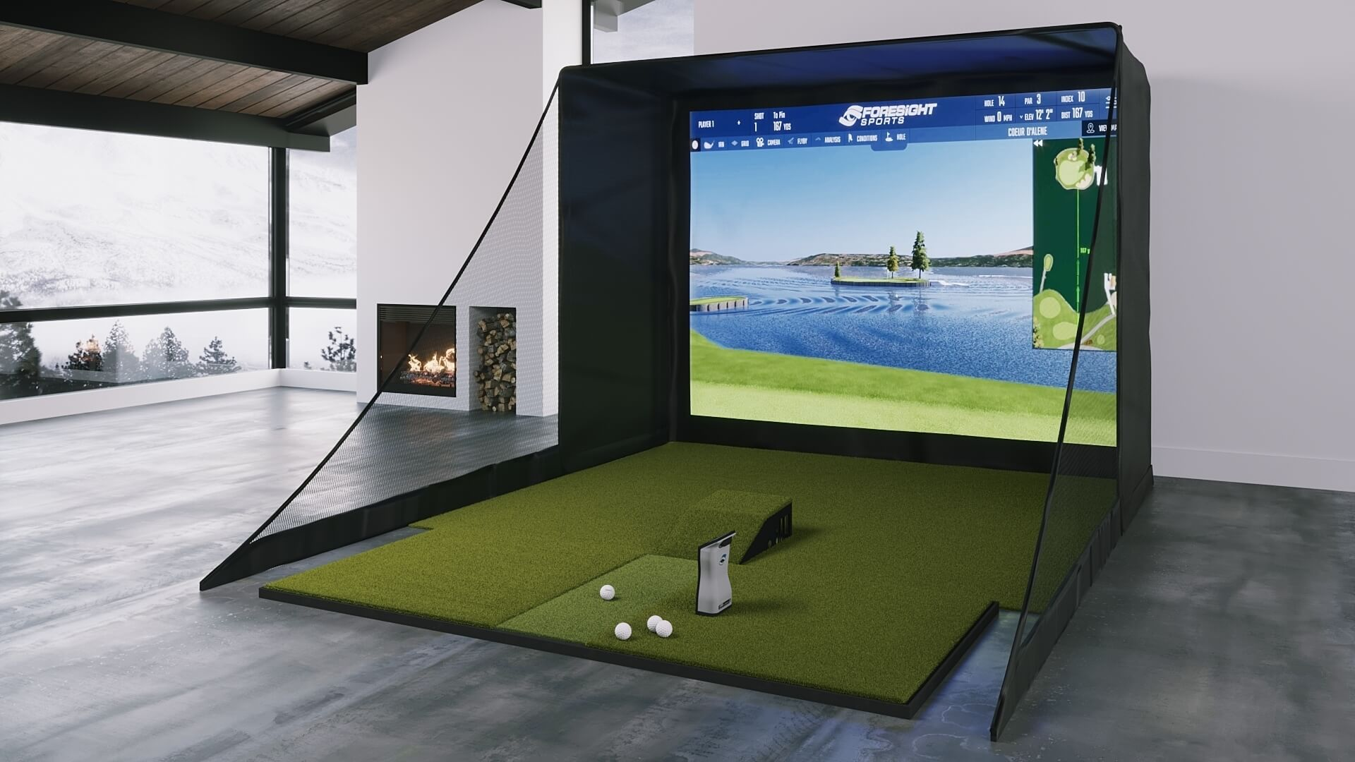 Foresight GC Quad SIG10 Golf Simulator from Shop Indoor Golf