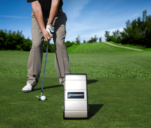 foresight gc2 launch monitor on the golf course