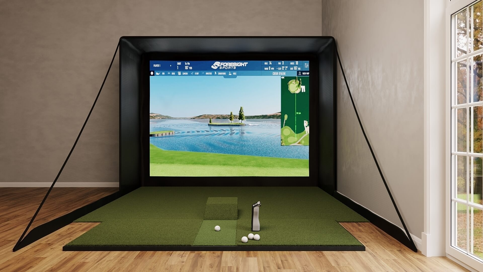 GCQuad SIG12 Golf Simulator Package from Shop Indoor Golf
