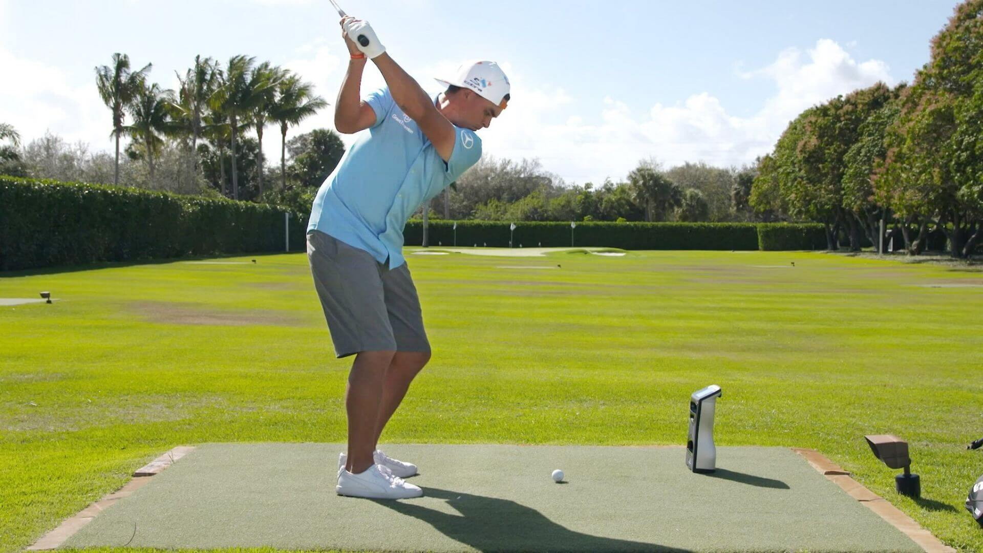 GCQuad launch monitor with rickie fowler