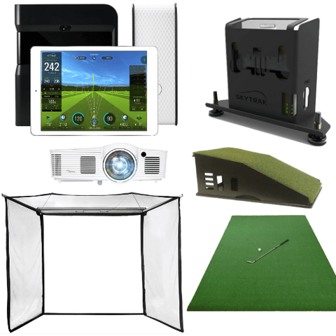 included in skytrak golf simulator flex space package