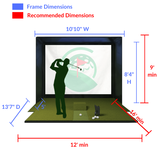 BallFlight SIG10 Golf Simulator Space Requirements