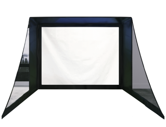 SIG10 Golf Simulator Screen Enclosure With Side Barrier Netting
