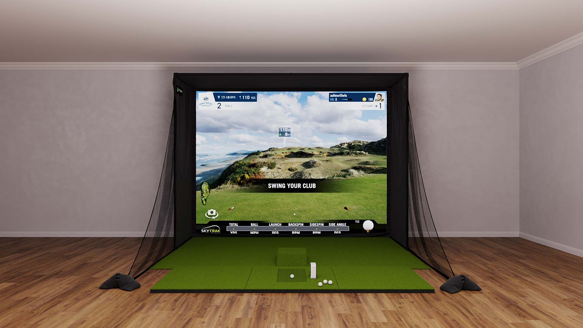 SkyTrak SIG10 Golf Simulator Package